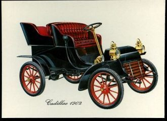 The old car of Cadillac, 1902