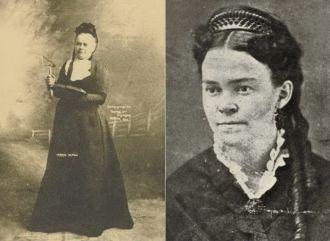 Carrie Nation - activist, who came with an ax fighted against drunkenness
