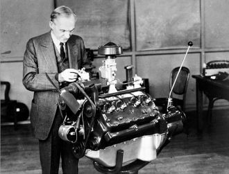 Henry Ford at work