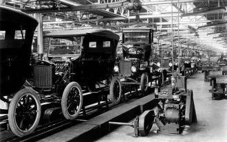 The conveyor in Ford Motor Company