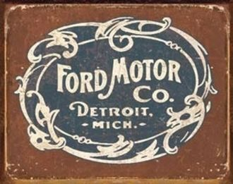 The logo of Ford Motor Company